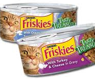Friskies cat food can