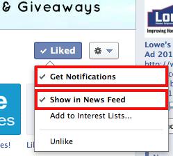 Facebook get notifications