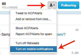 CP Text Alerts On