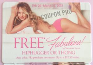 Free hiphugger or thong coupon