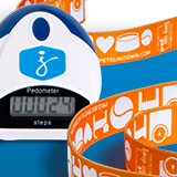 Pedometer and dog leash