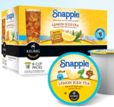brew over ice snapple k-cup