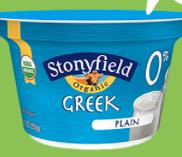 Stonyfield greek yogurt