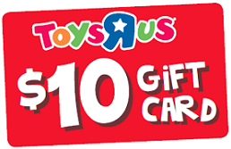 Toys r us gift card 10