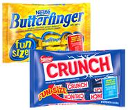Nestle halloween candy butterfinger crunch
