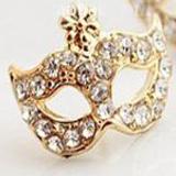 party mask earrings