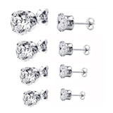 round cubic zirconia stud earrings coupon pro