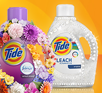 Tide laundry detergent with febreze or bleach