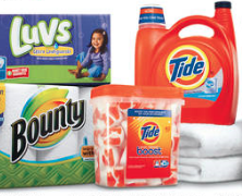Tide, bounty and luvs diapers