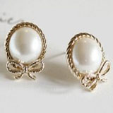 faux pearl and bow earrings coupon pro