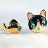 cat and fish stud earrings coupon pro